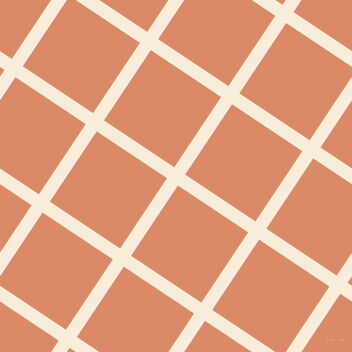 56/146 degree angle diagonal checkered chequered lines, 26 pixel line width, 167 pixel square size, Island Spice and Copper plaid checkered seamless tileable