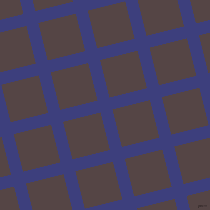 14/104 degree angle diagonal checkered chequered lines, 49 pixel lines width, 154 pixel square size, Jacksons Purple and Woody Brown plaid checkered seamless tileable