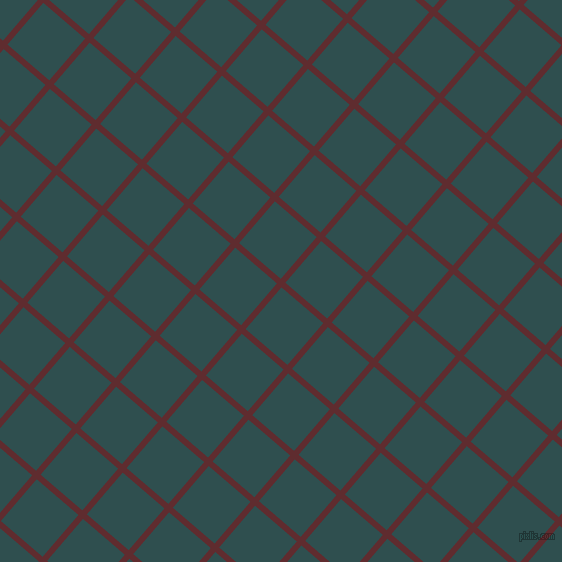 49/139 degree angle diagonal checkered chequered lines, 6 pixel lines width, 55 pixel square sizeJazz and Dark Slate Grey plaid checkered seamless tileable