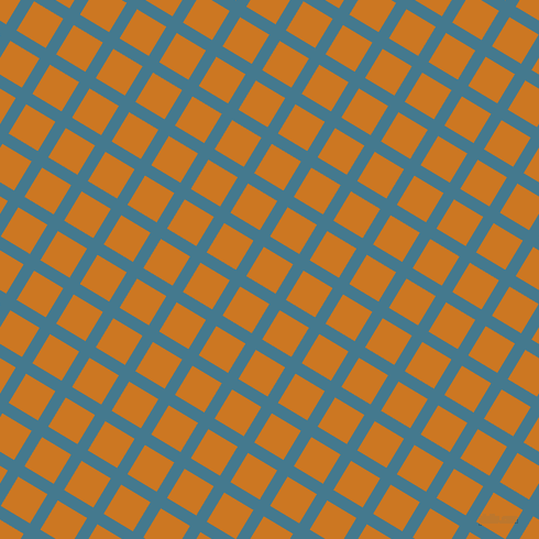 59/149 degree angle diagonal checkered chequered lines, 11 pixel line width, 31 pixel square size, Jelly Bean and Ochre plaid checkered seamless tileable