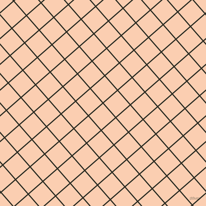 41/131 degree angle diagonal checkered chequered lines, 4 pixel lines width, 64 pixel square size, Karaka and Apricot plaid checkered seamless tileable