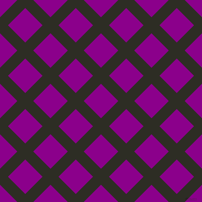 45/135 degree angle diagonal checkered chequered lines, 36 pixel lines width, 78 pixel square size, Karaka and Dark Magenta plaid checkered seamless tileable