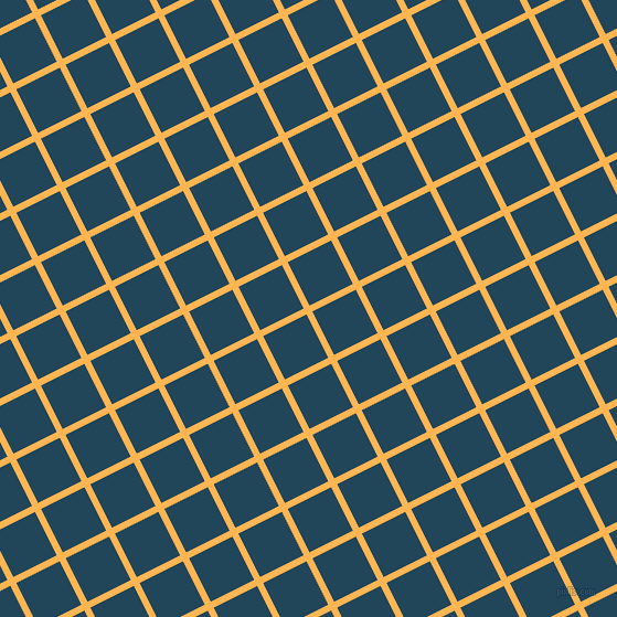 27/117 degree angle diagonal checkered chequered lines, 6 pixel line width, 44 pixel square size, Koromiko and Astronaut Blue plaid checkered seamless tileable