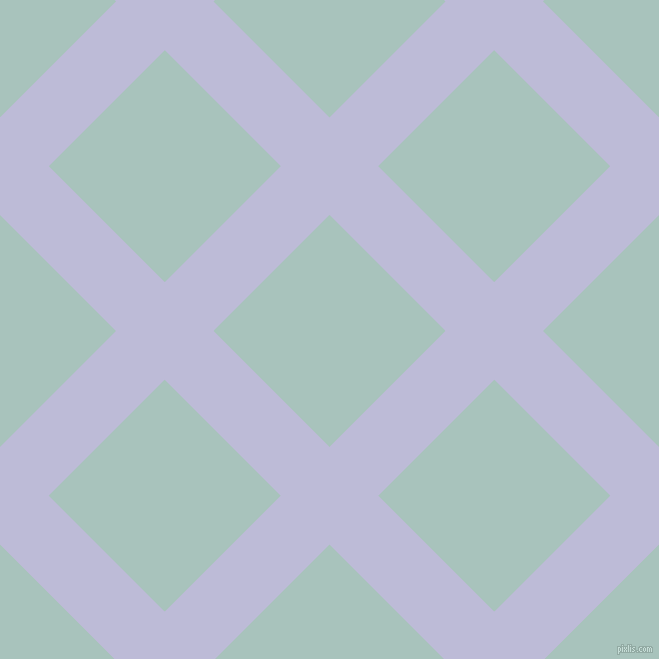 45/135 degree angle diagonal checkered chequered lines, 69 pixel line width, 164 pixel square size, Lavender Grey and Opal plaid checkered seamless tileable