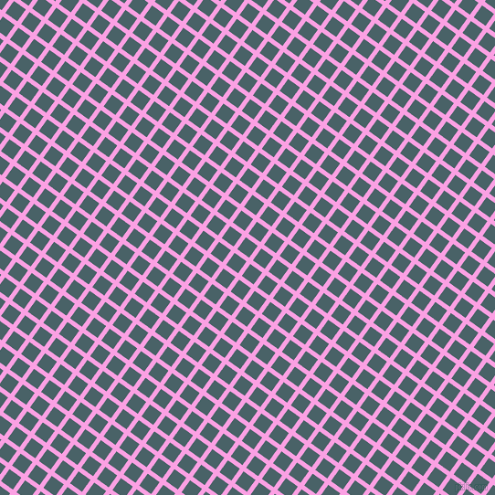 54/144 degree angle diagonal checkered chequered lines, 5 pixel line width, 16 pixel square size, Lavender Rose and Smalt Blue plaid checkered seamless tileable