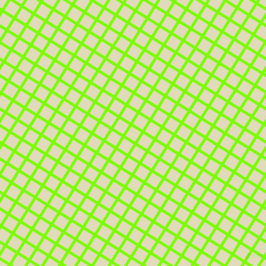 58/148 degree angle diagonal checkered chequered lines, 6 pixel lines width, 23 pixel square size, Lawn Green and Coconut Cream plaid checkered seamless tileable