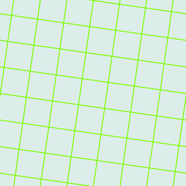 82/172 degree angle diagonal checkered chequered lines, 3 pixel line width, 83 pixel square size, Lawn Green and Tranquil plaid checkered seamless tileable