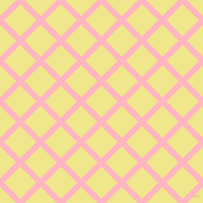 45/135 degree angle diagonal checkered chequered lines, 20 pixel lines width, 78 pixel square size, Light Pink and Khaki plaid checkered seamless tileable