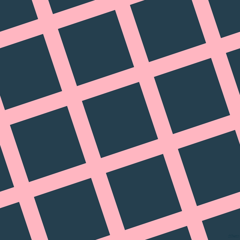 18/108 degree angle diagonal checkered chequered lines, 52 pixel lines width, 200 pixel square size, Light Pink and Nile Blue plaid checkered seamless tileable