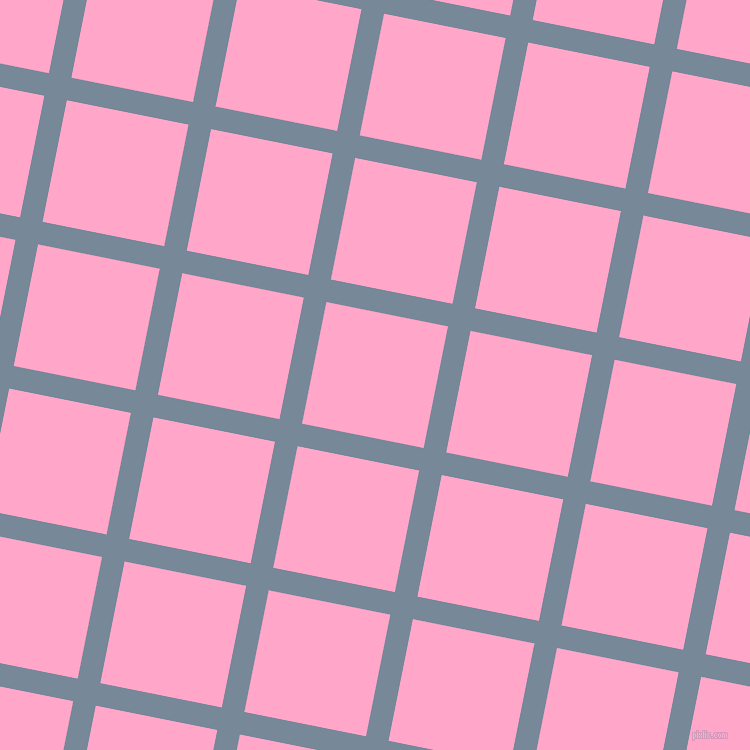 79/169 degree angle diagonal checkered chequered lines, 23 pixel lines width, 124 pixel square size, Light Slate Grey and Carnation Pink plaid checkered seamless tileable