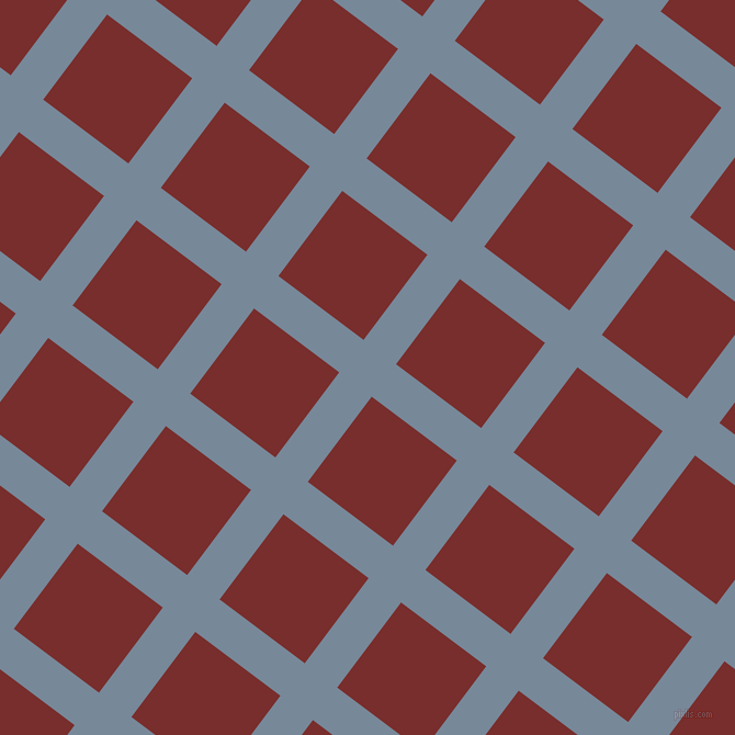 53/143 degree angle diagonal checkered chequered lines, 37 pixel lines width, 97 pixel square size, Light Slate Grey and Lusty plaid checkered seamless tileable