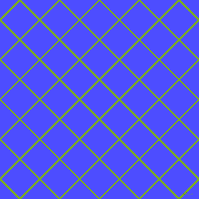 45/135 degree angle diagonal checkered chequered lines, 6 pixel line width, 92 pixel square size, Lima and Neon Blue plaid checkered seamless tileable