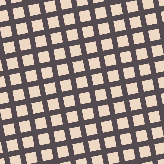 11/101 degree angle diagonal checkered chequered lines, 22 pixel lines width, 44 pixel square size, Liver and Almond plaid checkered seamless tileable
