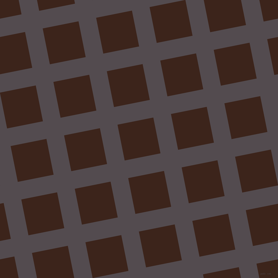 11/101 degree angle diagonal checkered chequered lines, 59 pixel lines width, 120 pixel square size, Liver and Brown Pod plaid checkered seamless tileable