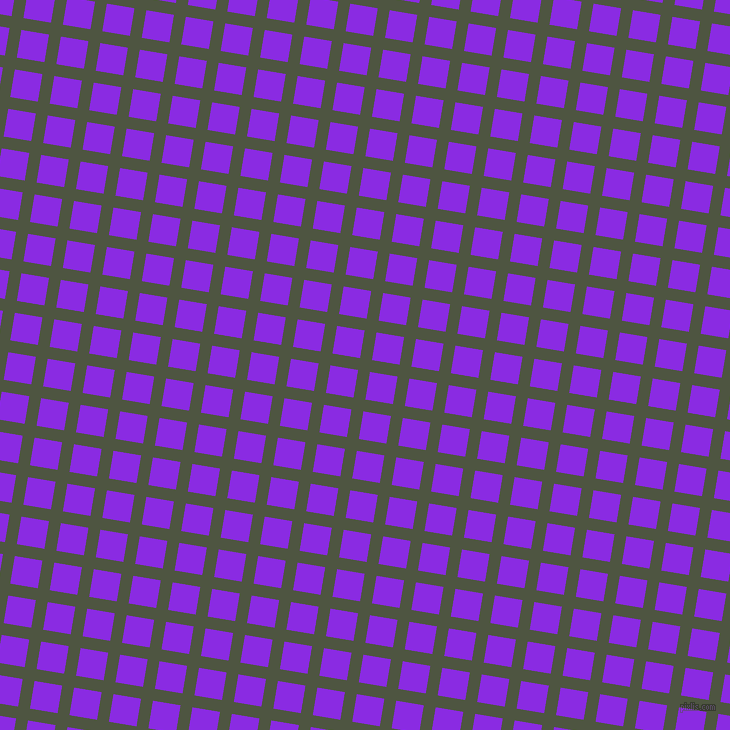 81/171 degree angle diagonal checkered chequered lines, 12 pixel lines width, 28 pixel square size, Lunar Green and Blue Violet plaid checkered seamless tileable