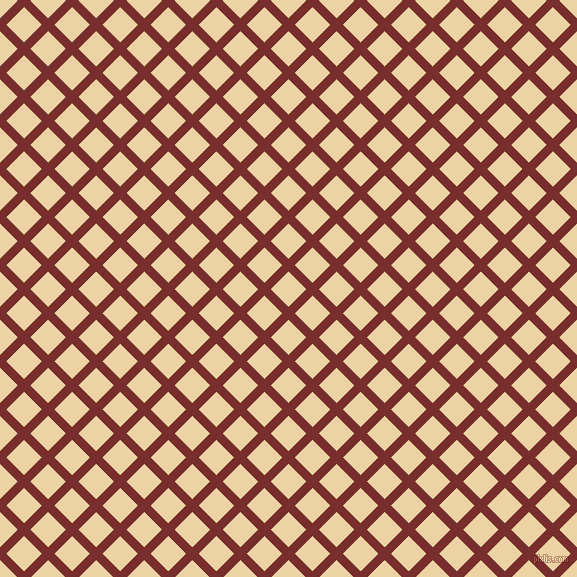 45/135 degree angle diagonal checkered chequered lines, 9 pixel lines width, 25 pixel square size, Lusty and Dairy Cream plaid checkered seamless tileable