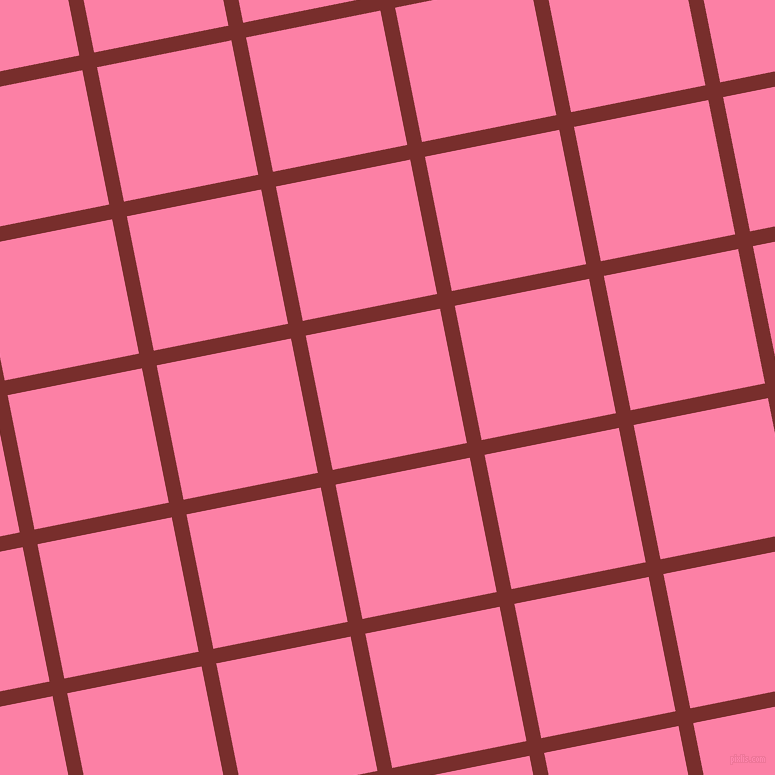 11/101 degree angle diagonal checkered chequered lines, 15 pixel lines width, 137 pixel square size, Lusty and Tickle Me Pink plaid checkered seamless tileable