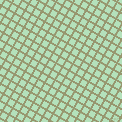 60/150 degree angle diagonal checkered chequered lines, 6 pixel line width, 19 pixel square size, Malachite Green and Fringy Flower plaid checkered seamless tileable