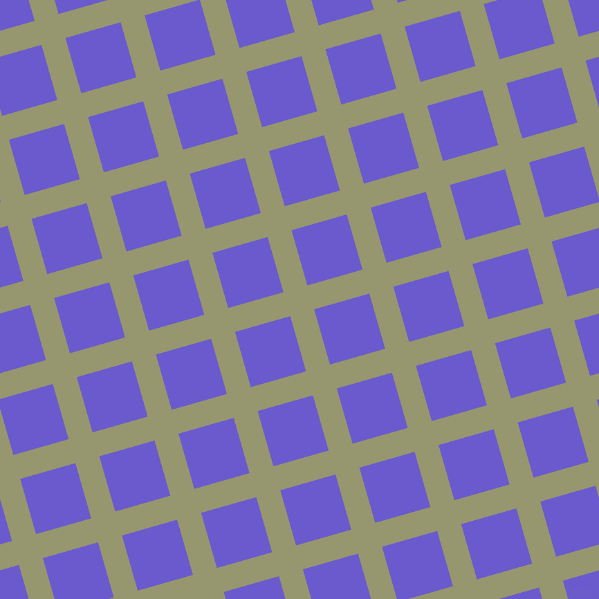 16/106 degree angle diagonal checkered chequered lines, 36 pixel lines width, 83 pixel square size, Malachite Green and Slate Blue plaid checkered seamless tileable