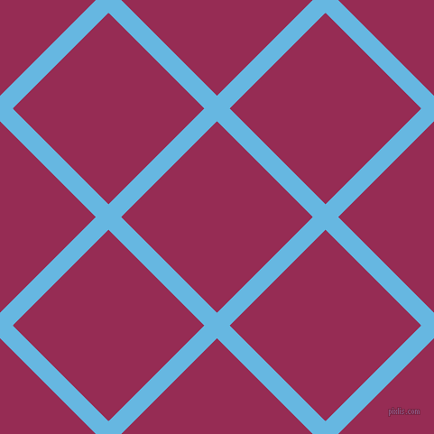 45/135 degree angle diagonal checkered chequered lines, 20 pixel line width, 150 pixel square size, Malibu and Lipstick plaid checkered seamless tileable