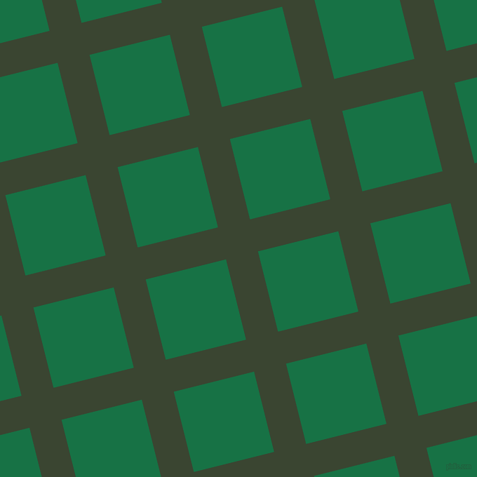 14/104 degree angle diagonal checkered chequered lines, 47 pixel line width, 118 pixel square size, Mallard and Dark Spring Green plaid checkered seamless tileable