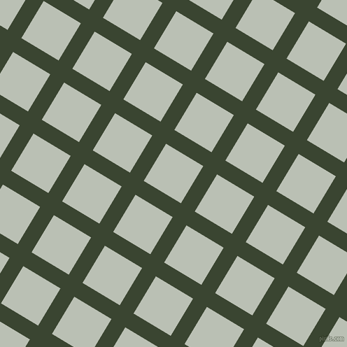 59/149 degree angle diagonal checkered chequered lines, 23 pixel lines width, 62 pixel square size, Mallard and Pumice plaid checkered seamless tileable