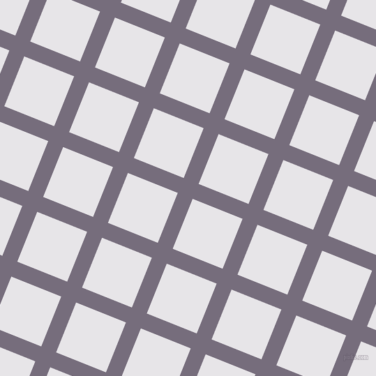 68/158 degree angle diagonal checkered chequered lines, 23 pixel line width, 77 pixel square size, Mamba and White Lilac plaid checkered seamless tileable