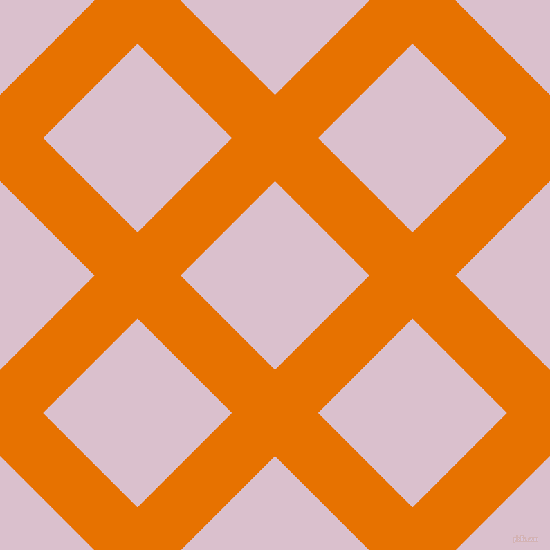 45/135 degree angle diagonal checkered chequered lines, 88 pixel line width, 193 pixel square size, Mango Tango and Twilight plaid checkered seamless tileable