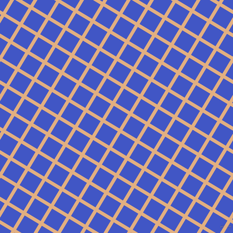 59/149 degree angle diagonal checkered chequered lines, 11 pixel lines width, 53 pixel square size, Manhattan and Free Speech Blue plaid checkered seamless tileable