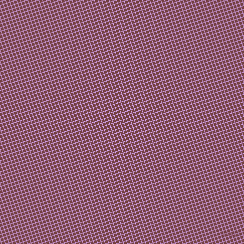 18/108 degree angle diagonal checkered chequered lines, 1 pixel line width, 6 pixel square size, Mauve and Tosca plaid checkered seamless tileable