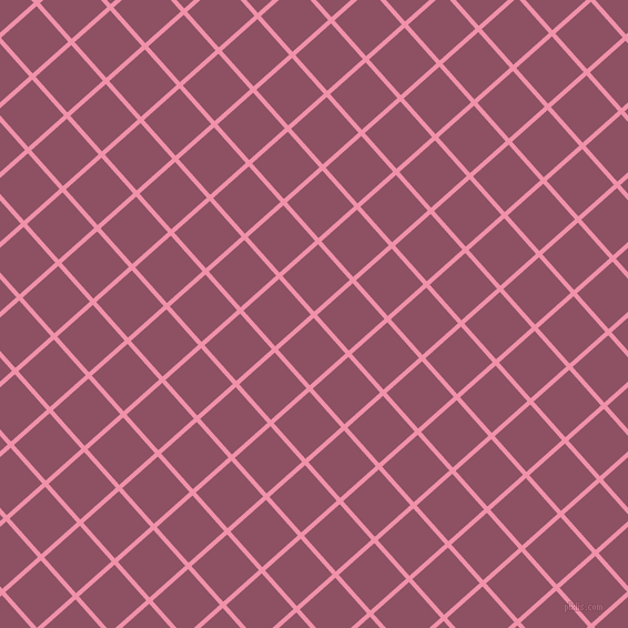 42/132 degree angle diagonal checkered chequered lines, 4 pixel line width, 43 pixel square size, Mauvelous and Cannon Pink plaid checkered seamless tileable