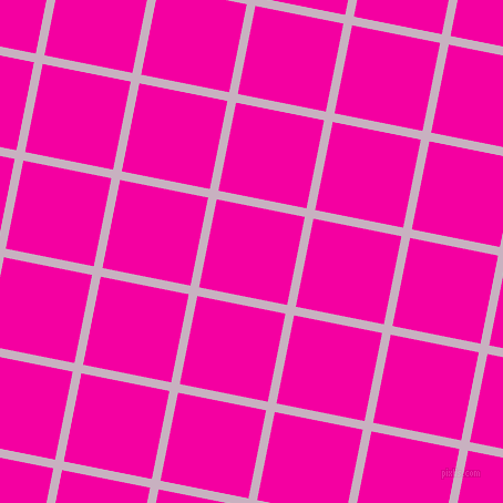 79/169 degree angle diagonal checkered chequered lines, 8 pixel line width, 81 pixel square size, Maverick and Hollywood Cerise plaid checkered seamless tileable