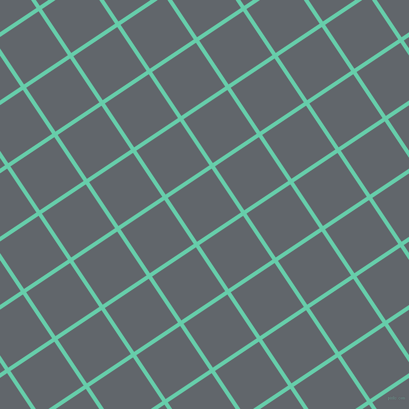34/124 degree angle diagonal checkered chequered lines, 8 pixel lines width, 106 pixel square size, Medium Aquamarine and Shuttle Grey plaid checkered seamless tileable