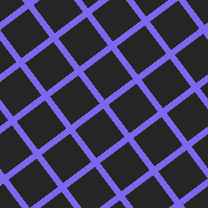 37/127 degree angle diagonal checkered chequered lines, 21 pixel lines width, 119 pixel square size, Medium Slate Blue and Nero plaid checkered seamless tileable
