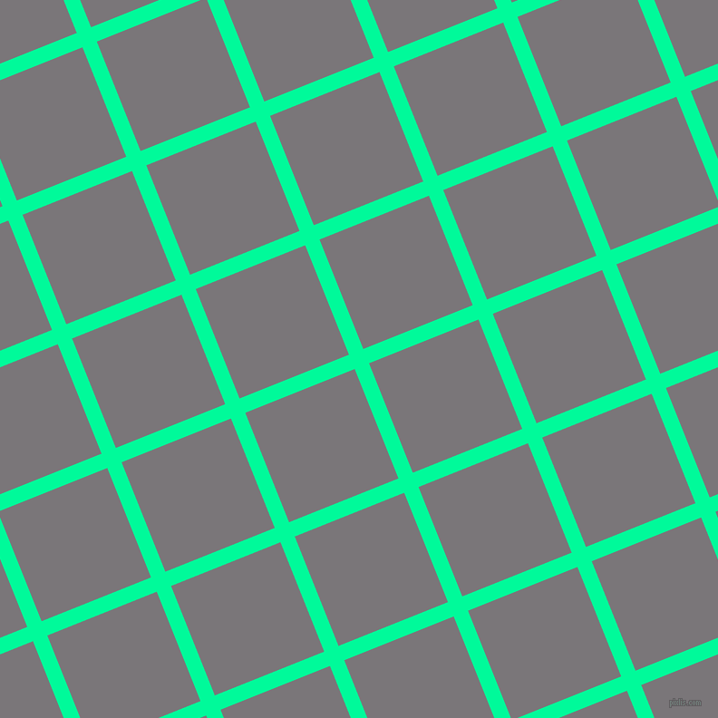 22/112 degree angle diagonal checkered chequered lines, 17 pixel lines width, 130 pixel square size, Medium Spring Green and Monsoon plaid checkered seamless tileable
