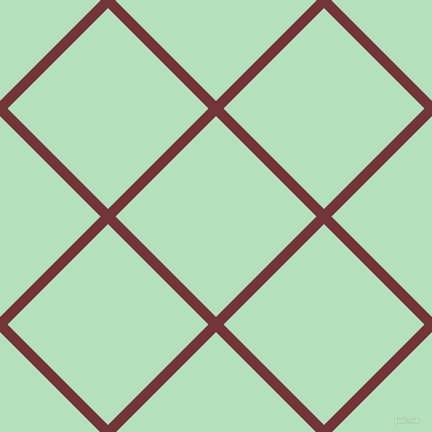 45/135 degree angle diagonal checkered chequered lines, 15 pixel lines width, 201 pixel square size, Merlot and Fringy Flower plaid checkered seamless tileable