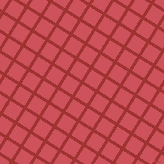 58/148 degree angle diagonal checkered chequered lines, 10 pixel line width, 47 pixel square size, Milano Red and Mandy plaid checkered seamless tileable