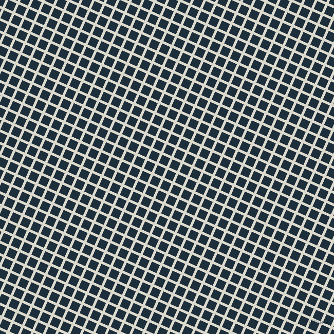 66/156 degree angle diagonal checkered chequered lines, 5 pixel lines width, 17 pixel square size, Milk White and Tangaroa plaid checkered seamless tileable