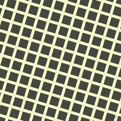 73/163 degree angle diagonal checkered chequered lines, 12 pixel lines width, 36 pixel square size, Mimosa and Heavy Metal plaid checkered seamless tileable