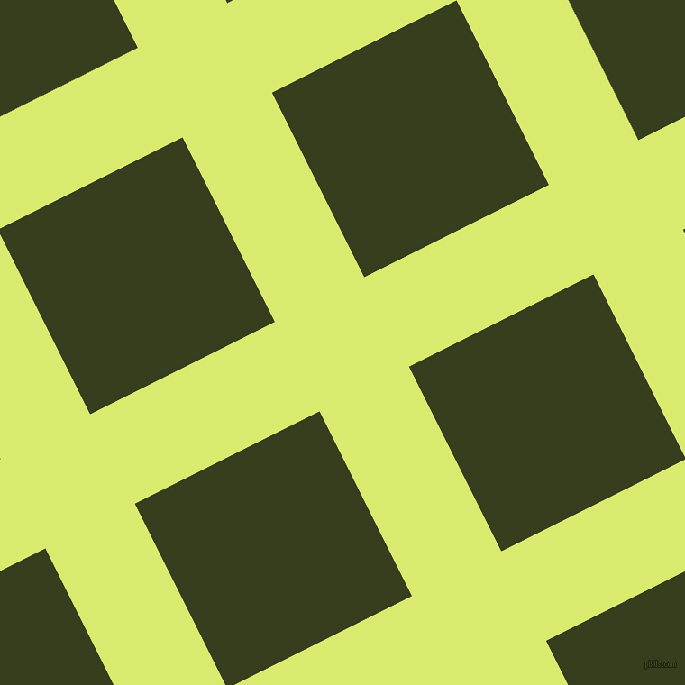 27/117 degree angle diagonal checkered chequered lines, 111 pixel lines width, 229 pixel square size, Mindaro and Turtle Green plaid checkered seamless tileable