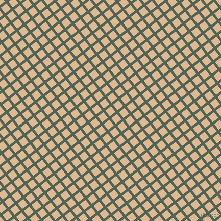 38/128 degree angle diagonal checkered chequered lines, 5 pixel line width, 14 pixel square size, Mineral Green and Pancho plaid checkered seamless tileable