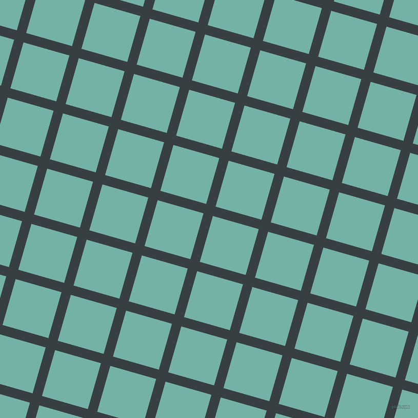74/164 degree angle diagonal checkered chequered lines, 19 pixel lines width, 93 pixel square size, Mirage and Gulf Stream plaid checkered seamless tileable