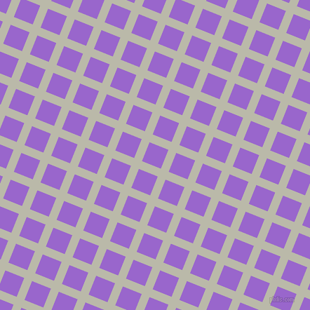 68/158 degree angle diagonal checkered chequered lines, 12 pixel lines width, 29 pixel square size, Mist Grey and Amethyst plaid checkered seamless tileable