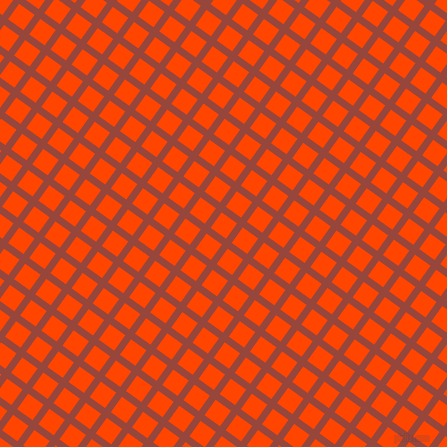54/144 degree angle diagonal checkered chequered lines, 7 pixel line width, 19 pixel square size, Mojo and Orange Red plaid checkered seamless tileable
