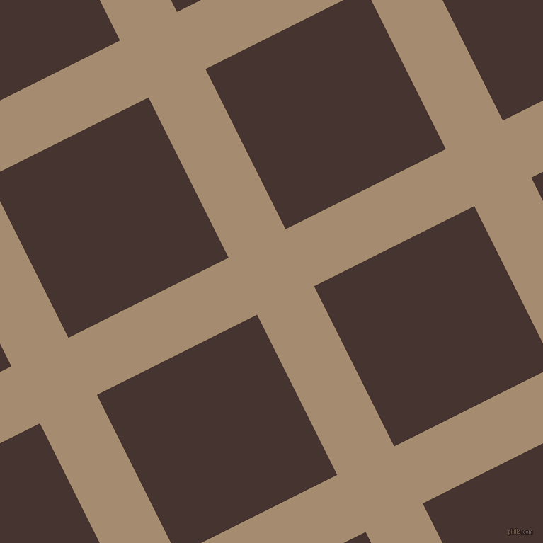 27/117 degree angle diagonal checkered chequered lines, 90 pixel lines width, 253 pixel square size, Mongoose and Cedar plaid checkered seamless tileable