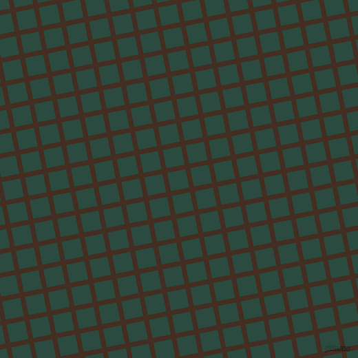 11/101 degree angle diagonal checkered chequered lines, 7 pixel line width, 27 pixel square size, Morocco Brown and Te Papa Green plaid checkered seamless tileable