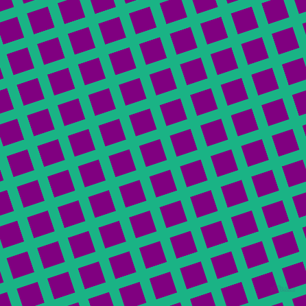 18/108 degree angle diagonal checkered chequered lines, 15 pixel lines width, 32 pixel square size, Mountain Meadow and Purple plaid checkered seamless tileable