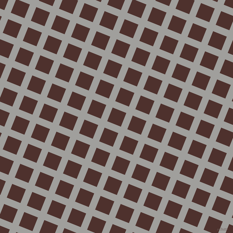68/158 degree angle diagonal checkered chequered lines, 22 pixel lines width, 47 pixel square size, Mountain Mist and Espresso plaid checkered seamless tileable