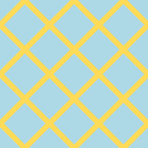 45/135 degree angle diagonal checkered chequered lines, 18 pixel lines width, 97 pixel square size, Mustard and Light Blue plaid checkered seamless tileable