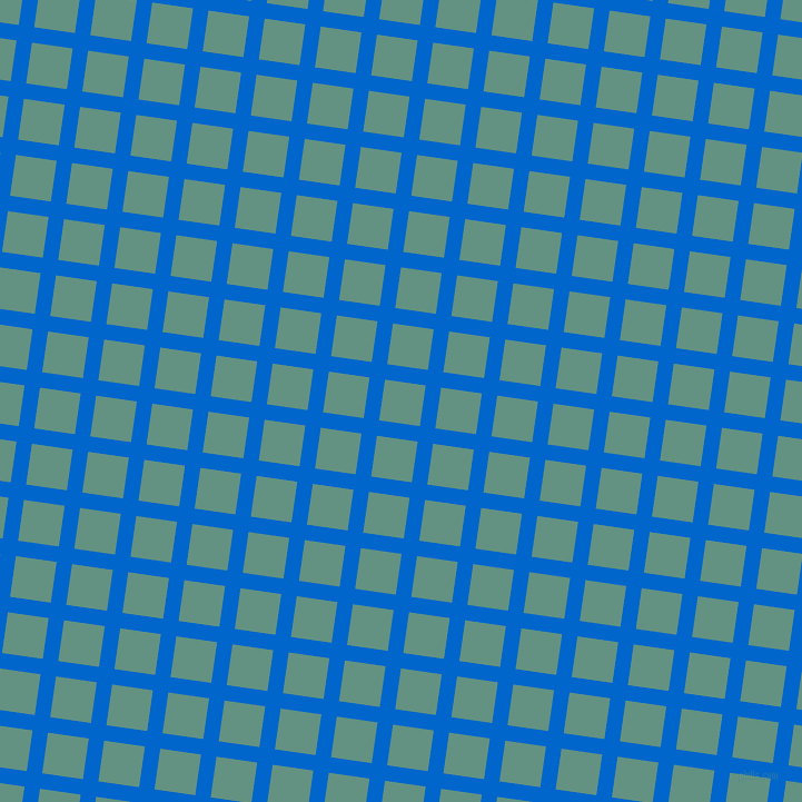82/172 degree angle diagonal checkered chequered lines, 14 pixel line width, 37 pixel square size, Navy Blue and Patina plaid checkered seamless tileable
